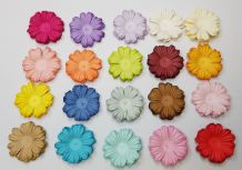 100 x 3.0 cm MULTI-COLOUR DAISIES Petals Mulberry Paper Flowers